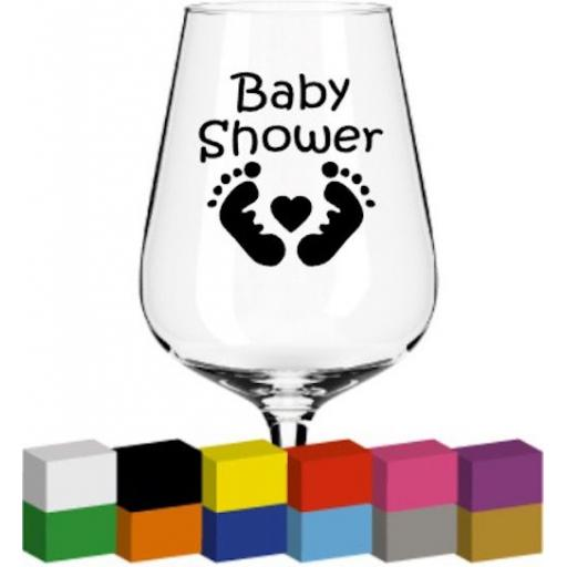 Baby Shower Glass / Mug / Cup Decal / Sticker / Graphic