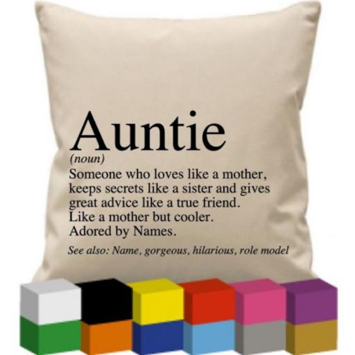 Cushion Cover with Auntie (noun)