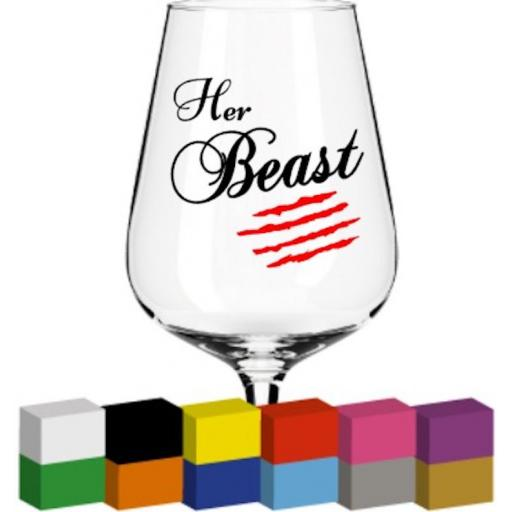 Her Beast V2 Glass / Mug / Cup Decal / Sticker / Graphic