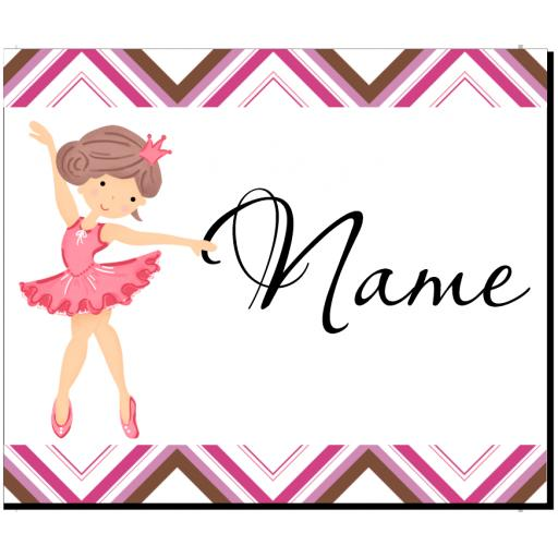 Ballerina Personalised Placemat