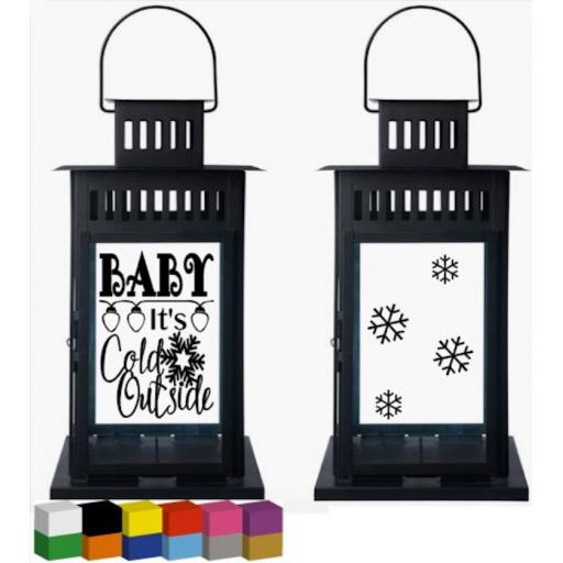 Baby it's cold outside Lantern Decal / Sticker / Graphic