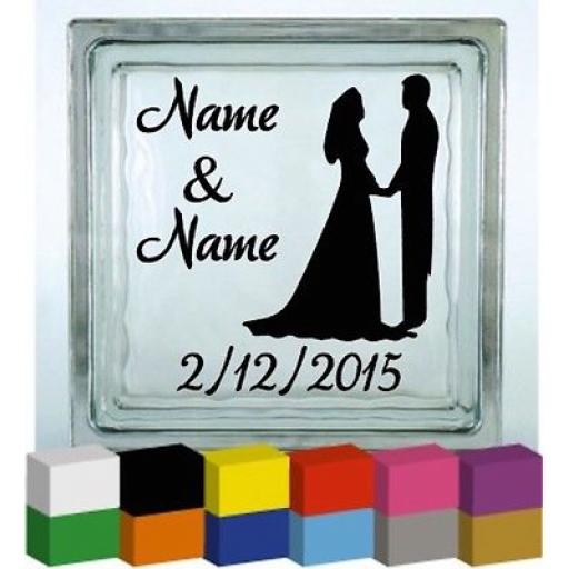 (Personalised) Wedding Day Vinyl Glass Block / Photo Frame Decal / Sticker/ Graphic
