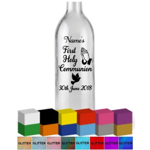 First Holy Communion Personalised Bottle Vinyl Decal / Sticker / Graphic