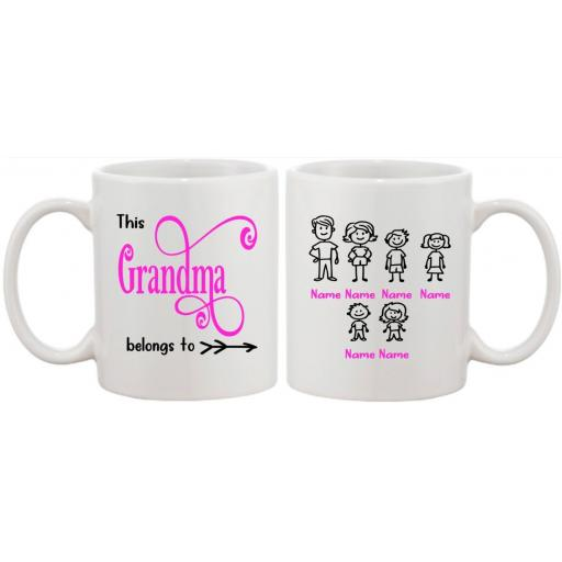This Person belongs to Mug Personalised with family