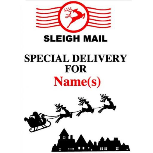 Sleigh Mail Heat Transfer Vinyl