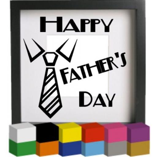 Happy Father's Day Tie Vinyl Glass Block / Photo Frame Decal / Sticker/ Graphic