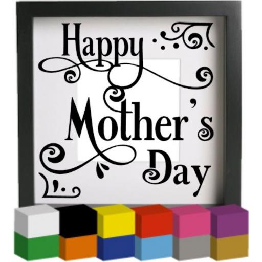 Happy Mother's Day V2 Vinyl Glass Block / Photo Frame Decal / Sticker / Graphic