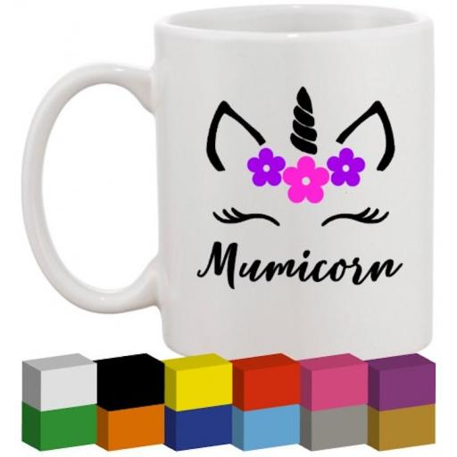 Mumicorn Glass / Mug / Cup Decal / Sticker / Graphic