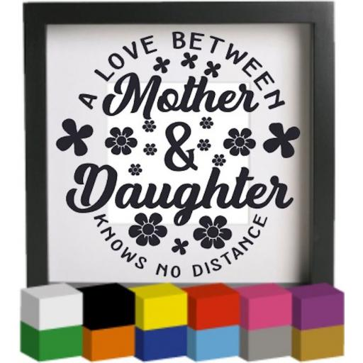 A love between Mother & Daughter Vinyl Glass Block / Photo Frame Decal / Sticker / Graphic