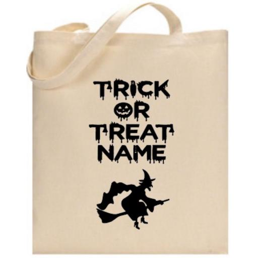Trick or Treat Witch Bag Personalised