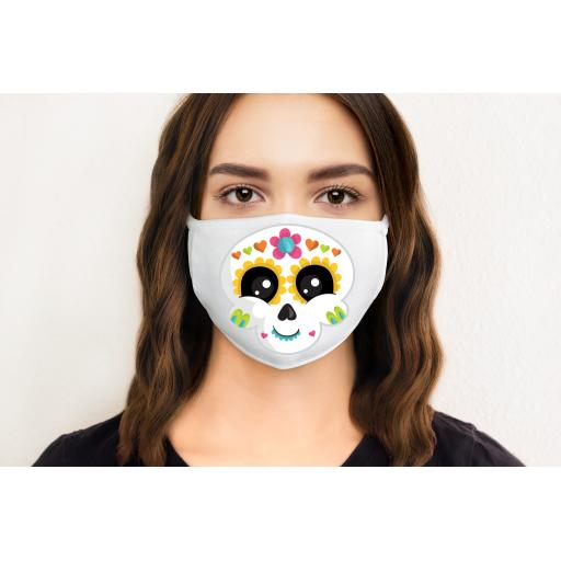 Sugar Skull Cute 1 Face Mask