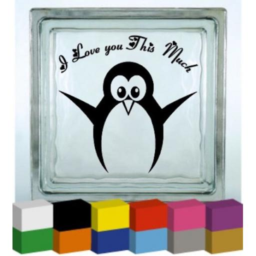 I love you this much Vinyl Glass Block / Photo Frame Decal / Sticker / Graphic