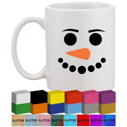 Snowman faces Glass / Mug Decal / Sticker / Graphic