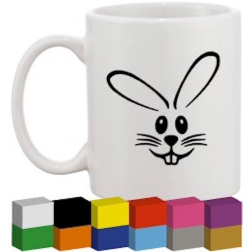Bunny Face Glass / Mug / Cup Decal / Sticker / Graphic