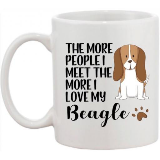 The more people I meet the more I love my Beagle Mug