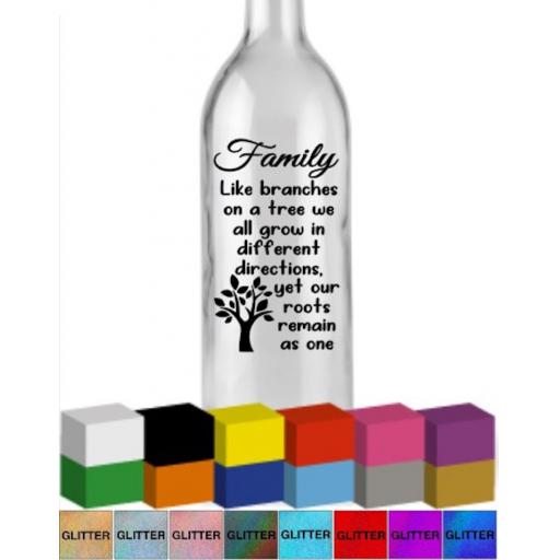 Family like branches on a tree Bottle Vinyl Decal / Sticker / Graphic