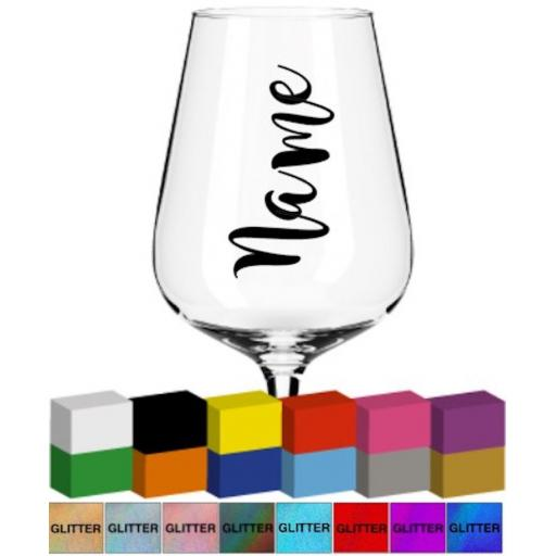 Wedding Champagne Flute Name Personalised Glass / Mug Decal / Sticker / Graphic