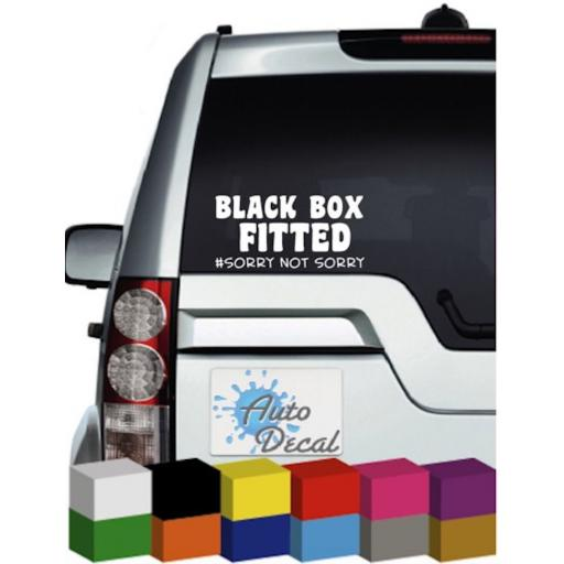 Black Box Fitted Vinyl Window Car Bumper, Decal / Sticker / Graphic