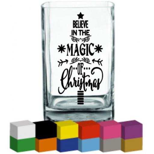 Believe in the Magic V2 Vase Decal / Sticker / Graphic