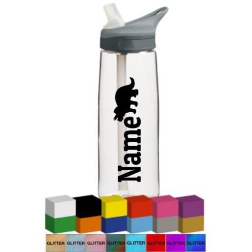 Name with Silhouette Personalised Bottle Vinyl Decal / Sticker / Graphic