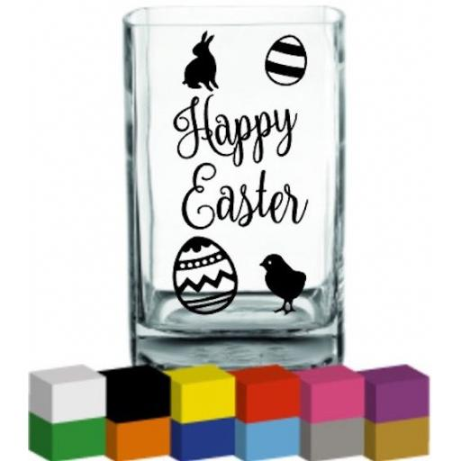 Happy Easter Vase Decal / Sticker / Graphic