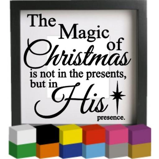 The magic of christmas Vinyl Glass Block / Photo Frame Decal / Sticker / Graphic