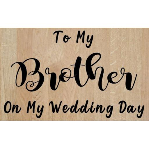 To my Personalised on my Wedding Day Box Decal / Sticker/ Graphic
