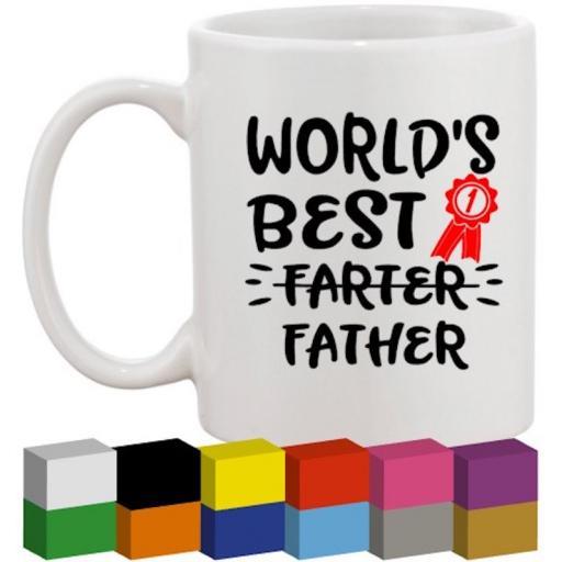 World's best Farter Glass / Mug / Cup Decal / Sticker / Graphic