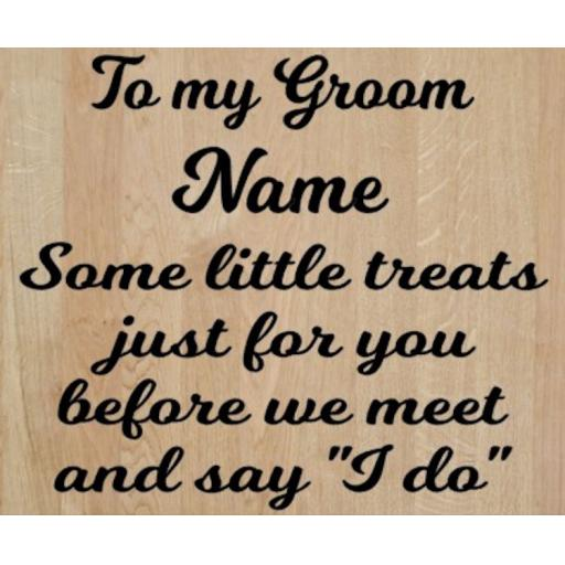 To my Groom Personalised Box Decal / Sticker/ Graphic