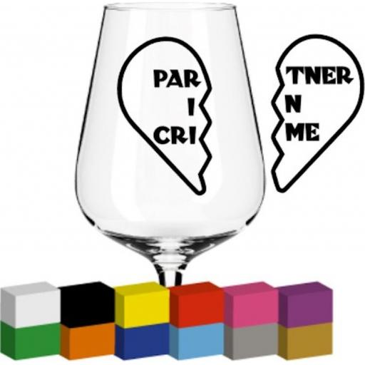 Partner in Crime Glass / Mug / Cup Decal / Sticker / Graphic