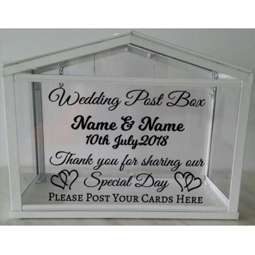 Wedding Card Post Box Personalised Decal / Sticker / Graphic