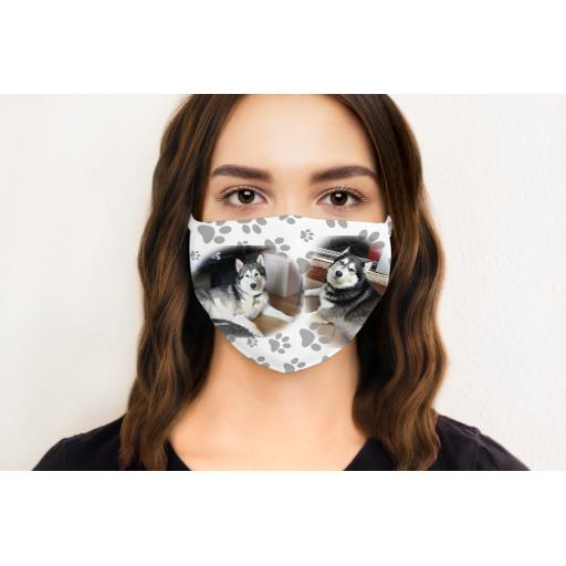 Personalised Photos and Paw Print Face Mask