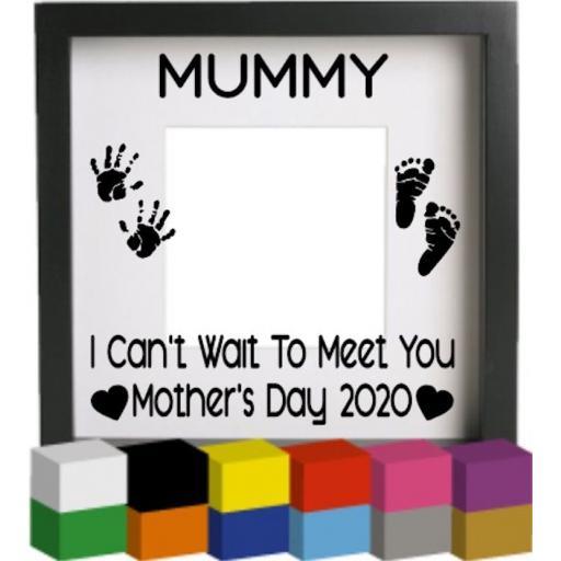 Mummy Vinyl Glass Block / Photo Frame Decal / Sticker / Graphic