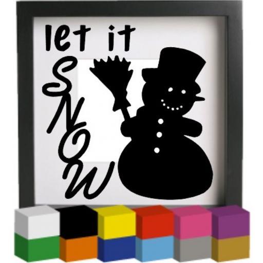 Let it Snow V4 Vinyl Glass Block / Photo Frame Decal / Sticker / Graphic