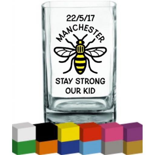 Manchester Bee Vase Decal / Sticker / Graphic