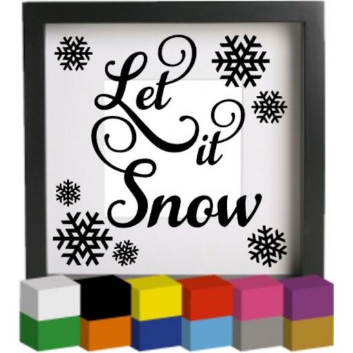 Let it Snow V5 Vinyl Glass Block / Photo Frame Decal / Sticker / Graphic