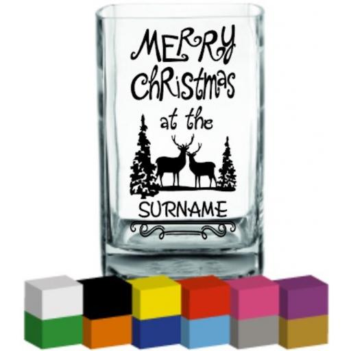 Merry Christmas at the (Personalised) Vase Decal / Sticker / Graphic