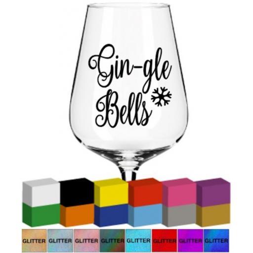 Gin-gle Bells Glass / Mug Decal / Sticker / Graphic