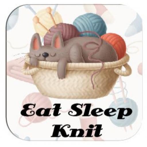 Eat Sleep Knit Coaster