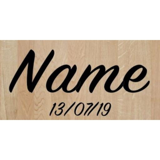Name Date Personalised Box Decal / Sticker/ Graphic
