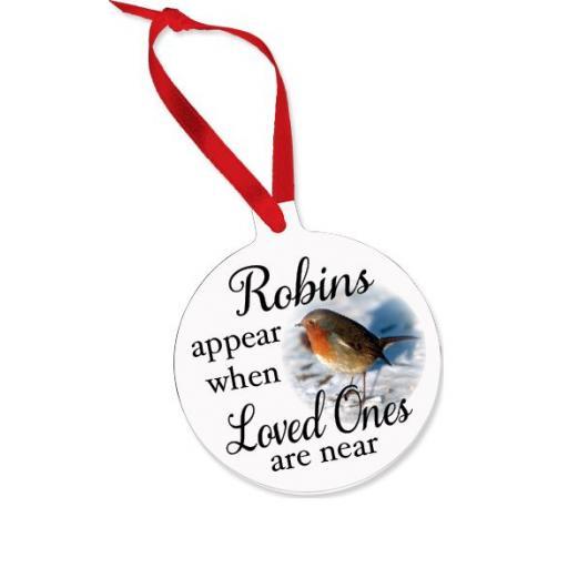 Robins appear Aluminium Ornament / Bauble