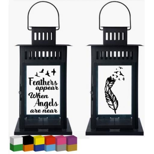 Feathers Appear Lantern Decal / Sticker / Graphic