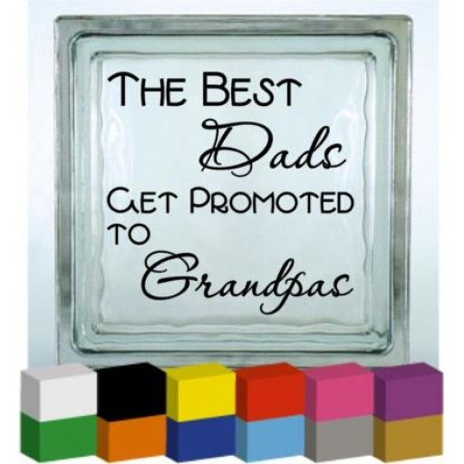 The Best Dads (Personalised) Vinyl Glass Block / Photo Frame Decal / Sticker/ Graphic