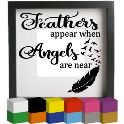 Feathers Appear V3 Vinyl Glass Block / Photo Frame Decal / Sticker / Graphic