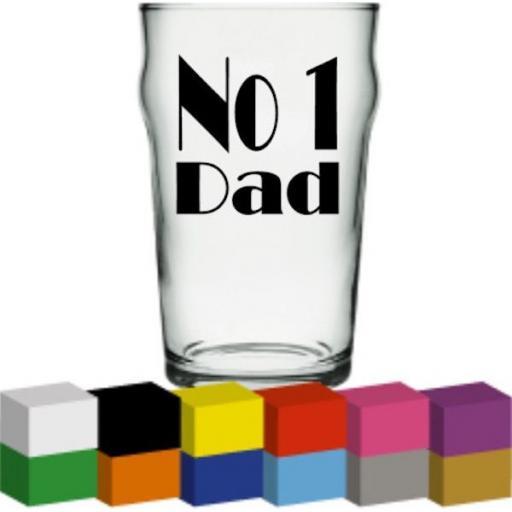 No 1 Dad Glass / Mug / Cup Decal / Sticker / Graphic