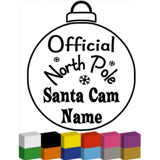 Official North Pole Santa Cam Personalised Decal / Sticker/ Graphic