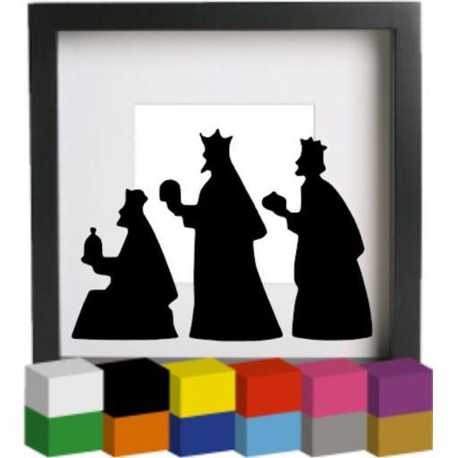 Nativity Kings Vinyl Glass Block / Photo Frame Decal / Sticker / Graphic