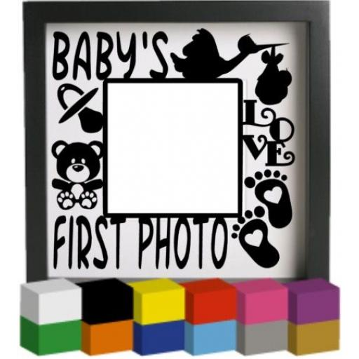 Baby's First Photo Vinyl Glass Block / Photo Frame Decal / Sticker / Graphic