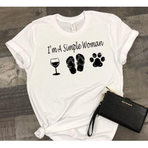 I'm a simple woman Heat Transfer Vinyl