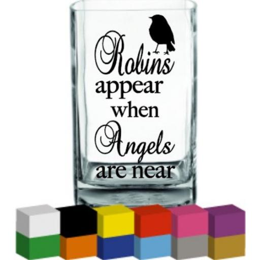 Robins appear when Angels are near Vase Decal / Sticker / Graphic